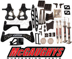 Mcgaughys 2014-18 Chevy Silverado 4wd 7-9 Black Lift Kit Cast Steel A Arms