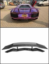 Carbon Wing For Aventador Lp700 Dmcc Molto Velocee Rear Spoiler W/ Deck Lid