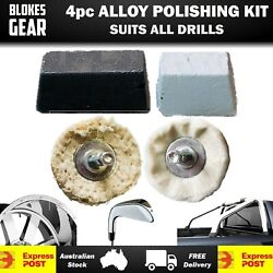 4pc Metal Polishing Kit For Cars Boats Hot Rods Classics Mag Wheels Engine Parts