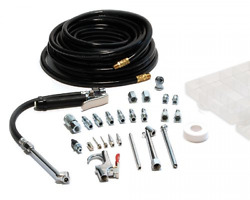 Garage Tire Inflator with Air Compressor Accessory Kit and 50 ft. Air Hose 20 Pc