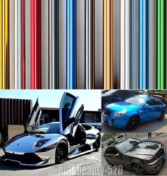 Best Wrap - Hot Entire Car Auto Glossy Mirror Chrome Vinyl Film Decal Sticker Rr