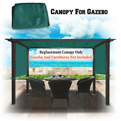 18and039 X 8.2and039 Universal Replacement Canopy Top Green Cover For Pergola Structure