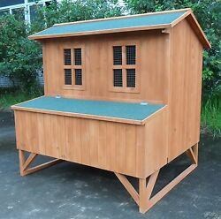 Chicken Coop Running Cage Backyard Poultry Hen House Bantam Wood Large