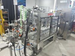 Harland Europa front & back labeler with top applicator and Systech vision sy...