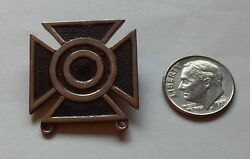 Wwii Army Sharpshooter Sterling Silver Badge Pin