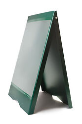A-BOARD PAVEMENT SIGN MENU SANDWICH BOARD SHOP SIGN FOR A2 SIZE POSTERS GREEN