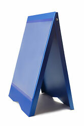 A-BOARD PAVEMENT SIGN MENU SANDWICH BOARD SHOP SIGN FOR A2 SIZE POSTERS BLUE