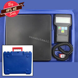 Digital Electronic Refrigerant Charging Scale 220lbs for HVAC With Case Easy Use