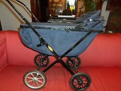 Vintage Super Royalty Baby Doll Stroller Carriage And Metal Made In Usa