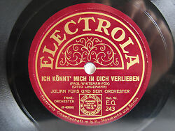 78rpm Julian Fuhs - I May Be Dancing With Somebody Else - Tanzmusik RaritÄt