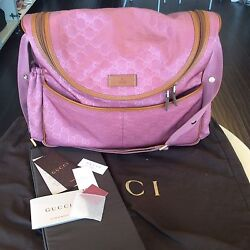 Gucci Monogram Pink NWT Diaper Bag Shop N Pick Up  Our LA Store