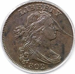1802 S-239 R-3 Pcgs Vf 30 Draped Bust Large Cent Coin 1c