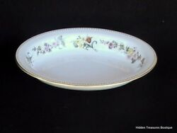 Wedgwood Mirabelle R4537 10 Oval Vegetable Bowl Cream Pastel Floral Beautiful