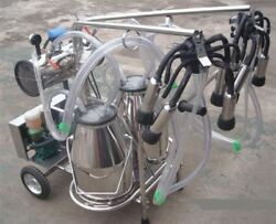 Oil Free Vacuum Pump Milker For Cows + Goats Double Tank Brand New Ch