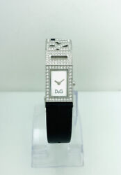 Dolce And Gabbana Womenand039s Shout Watch Dw0505 Black Leather Stones Watch