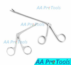 2 Hartman Alligator Ear Forceps Serrated 3.5#x27;#x27; And 8quot; ENT Surgical Instruments