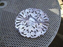 Vintage Sheffeild Silver Plate Adjustable Hot Plate Cut Out Flowers And Leaves