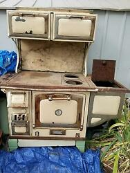 The Great Majestic Wood Stove 1900s Antique Old West Rustic Cabin Stove