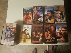 Vhs Bible Movies The Bible Collection Used In Very Good Condition. 17 Tapes