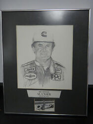 Pencil Drawing Indianapolis 500 Winner Al Unser Ims Museum 1987