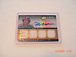 Rod Carew 2008 Ud Premier Remnants Game Used Quad Jersey Auto 06/15 Signed Card
