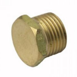 4x Metforge Brass Plugs Threaded, Closes Off Female Inlet Fittings- 15mm Or 20mm