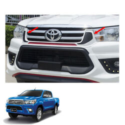 Front Grill Grille White Red Black 1 Pc Fit Toyota Hilux Revo Sr5 2015 - 2017