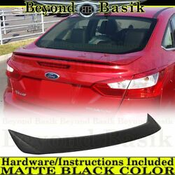 2012 2013 2014 2015 Ford Focus 4dr Matte Black Factory Style Spoiler Wing