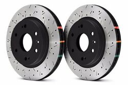 Dba Rear Drilled And Slotted Brake Rotors For Nissan 370z Infiniti G37 G37s Sport