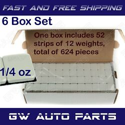 6 Box 3744 Pieces 1/4oz Wheel Weights Stick-on Adhesive Tape Lead Free