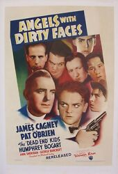 ANGELS WITH DIRTY FACES VINTAGE MOVIE POSTER CAGNEY & BOGART