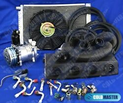 New A/c Kit Universal Under Dash Evaporator 12v 450a-000fb And Elec Harness