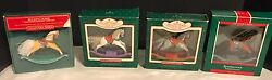 Hallmark Ornament Lot Of 4mrocking Horse  1986 1087 1988 1089 In Boxes