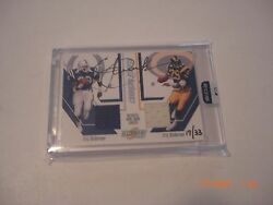 Eric Dickerson 2016 Panini Honors Game Used Dual Jersey Auto 17/33 Signed Card