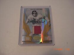 Frank Gifford 2008 Leaf Certified 2-color Game Used Jersey Auto 9/15 Signed Card