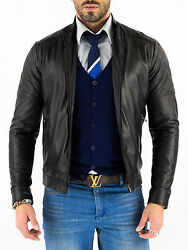 ★giacca Giubbotto Uomo In Di Pelle 100 Men Leather Jacket Veste Homme Cuir Zc2f