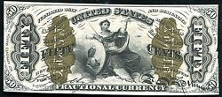 """Fr. 1358 50 Fifty Cents Third Issue """"justice"""" Fractional Currency Uncirculated"""