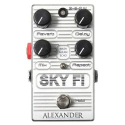 Alexander Pedals Sky Fi ReverbDelay Guitar Effects Pedal Stompbox Footswitch