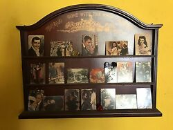 Gone With The Wind Porcelain Collector Cards And Wood Display Shelf 18 Cards