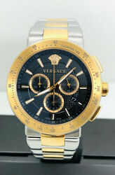 Versace Men's Vfg100014 Mystique Sport Two-tone Iprg And Stainless Steel Watch