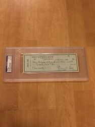 Ty Cobb Signed Personal Check Psa 9 Detroit Tigers Hall Of Famer