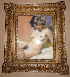 American And Hungarian Painter Fried Pal`s Picture Naked Beauty-iii 1940`s