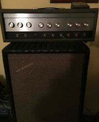 And03966 Sears Silvertone 1484 Superb Condition Amp Head 900 Custom Cabinet 250.