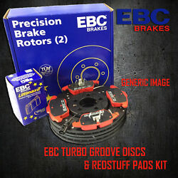 New Ebc 312mm Front Turbo Groove Gd Discs And Redstuff Pads Kit Pd12kf246