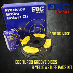 New Ebc 313mm Front Turbo Groove Gd Discs And Yellowstuff Pads Kit Pd13kf499