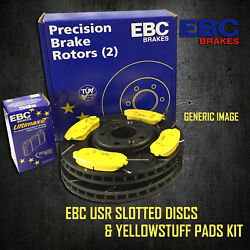 New Ebc 348mm Front Usr Slotted Brake Discs And Yellowstuff Pads Kit Pd08kf121