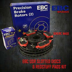New Ebc 355mm Front Usr Slotted Brake Discs And Redstuff Pads Kit Pd07kf094