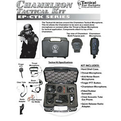 Tactical Ear Gadgets CHAMELEON Tactical Kit for Motorola APX XPR Two Way Radios