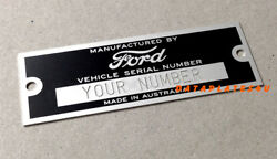 Stamped Ford - Australia - Data Plate Serial Number Hot Rod Rat Street Tag
