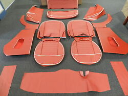 Leather Triumph Tr3 Interior Kit Fits Models With Slant Rear Floor Sierra Red
